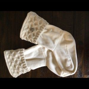 Michael Kors Cream Cable Knit Cuff Boot Socks
